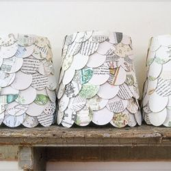 Have an old map lying around? All you need is a pair of scissors, lampshade, and some hot glue to make these upcycled map cutout lampshades!