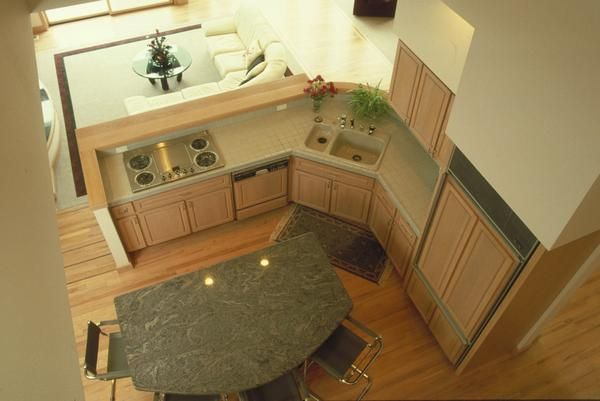 Upper View Of A Double Kitchen Sink Corner Sink Kitchen Corner Sink Kitchen Layout