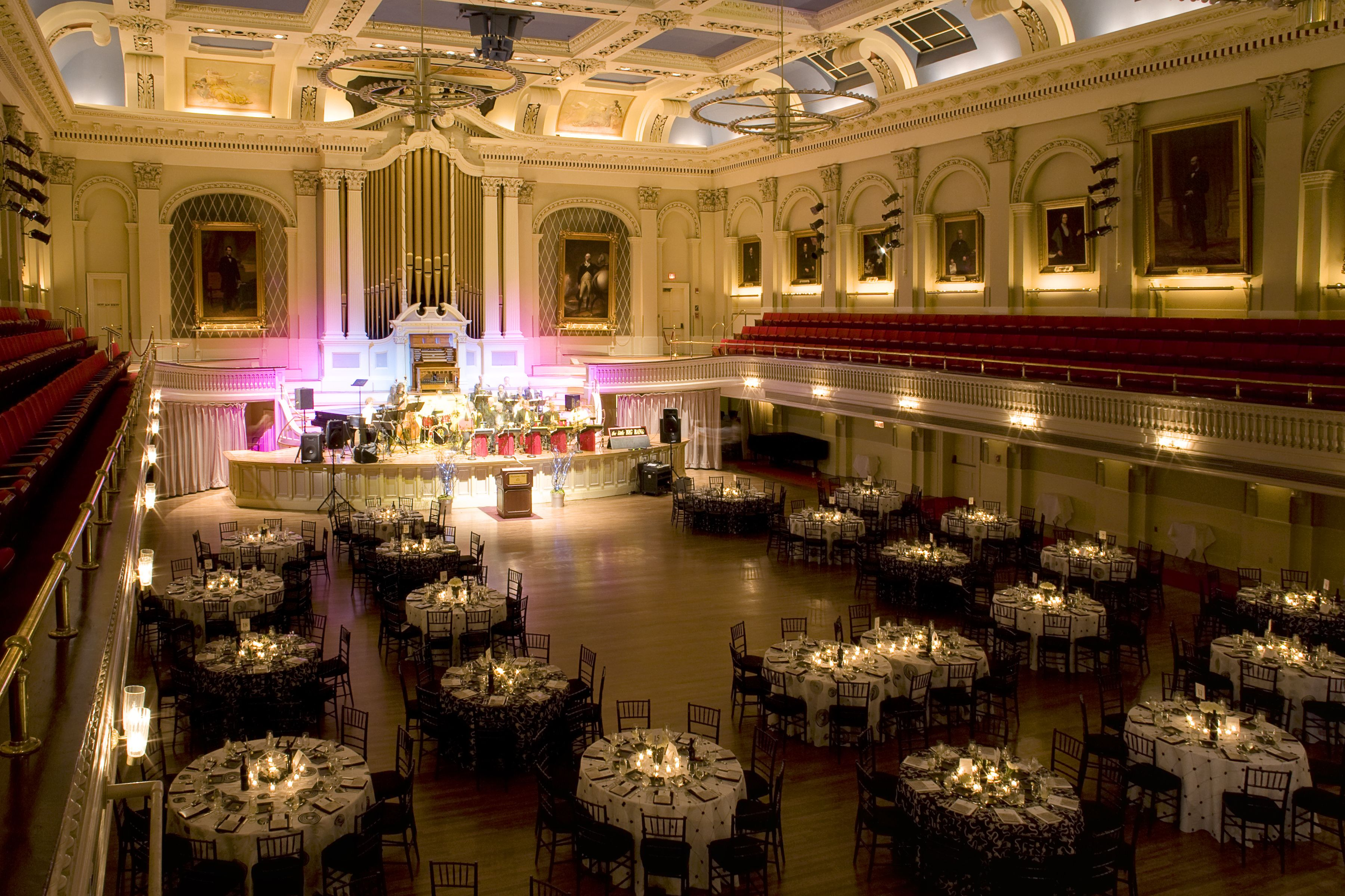 Mechanics Hall In Worcester Ma Tables Set And Ready In The