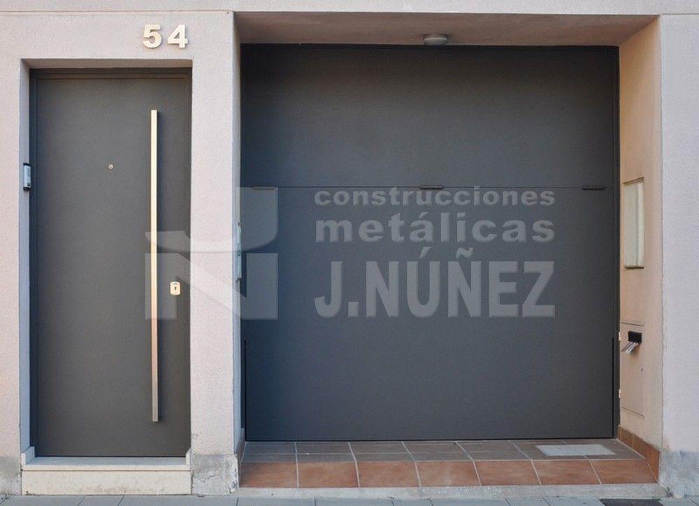 Puerta exterior met lica puerta de acceso pinterest puertas puertas exterior y puertas de - Puerta exterior metalica ...