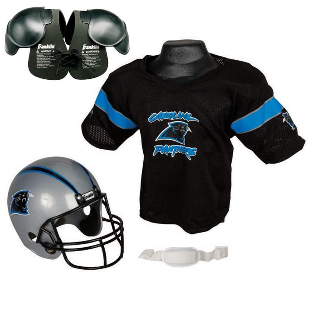 Carolina Panthers Youth NFL Helmet and Jersey SET with Shoulder Pads. Cam  Newton Carolina Panthers Halloween Costume ... 1641d4a89