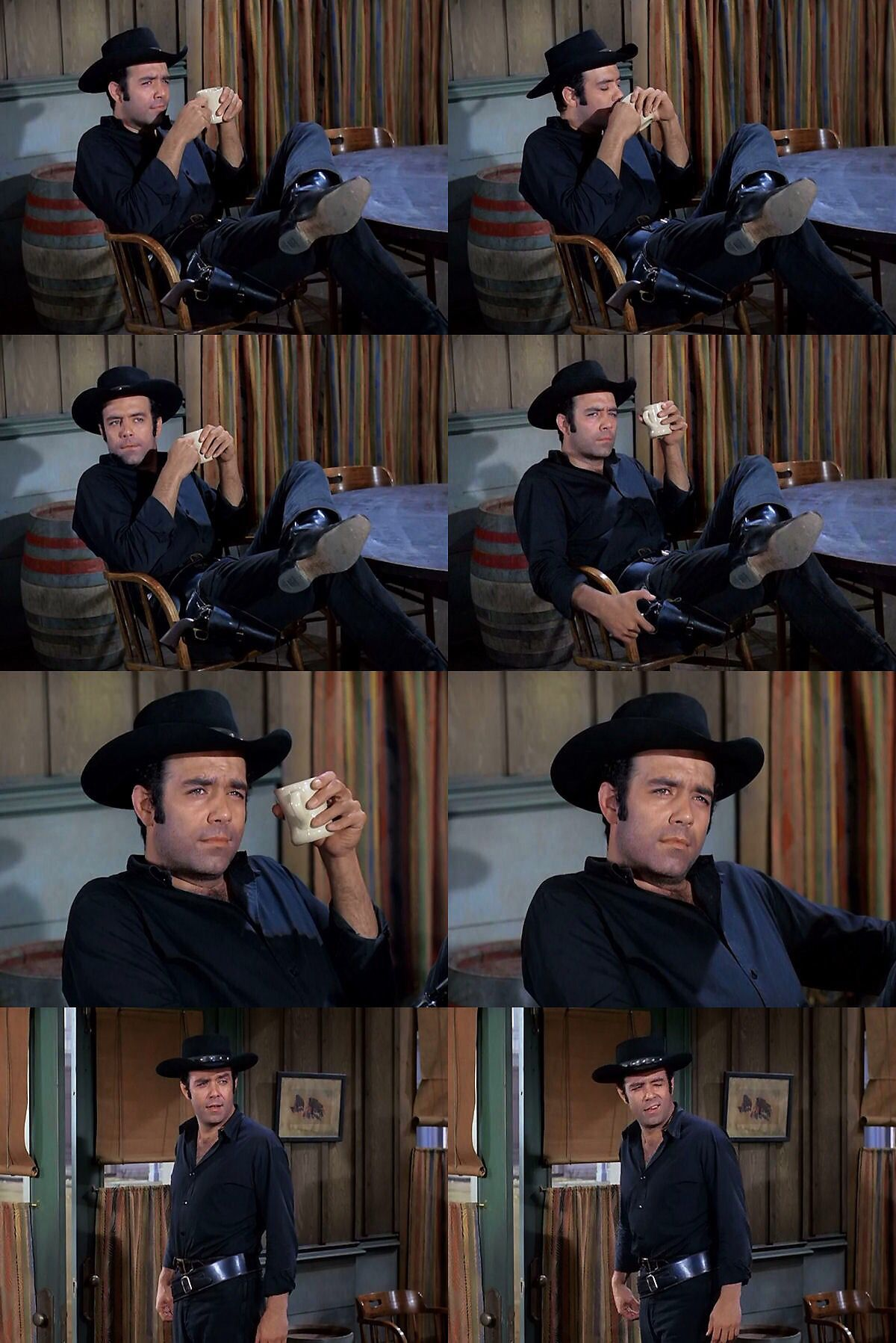 Adam Cartwright, who keeps his cool in every situation. From The Toy Soldier (Bonanza)