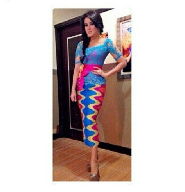 Kebaya Modern Bali Lengan Pendek  Fashion  Pinterest  Kebaya