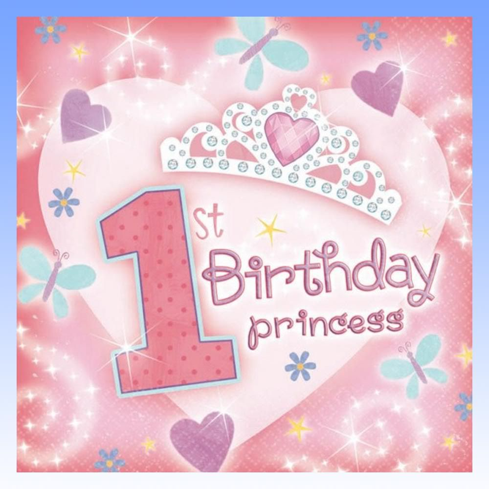 Images Of Vintage Girls First Birthday Card