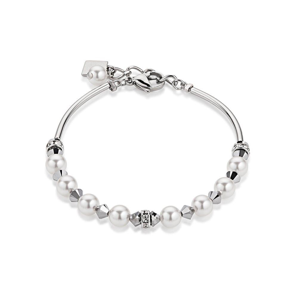 Coeur De Lion Pearl Crystal Ladies Bracelet