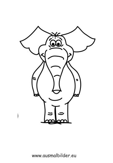 Ausmalbild Stehender Elefant Zum Ausmalen Ausmalbilder Ausmalbilderelefanten Malvorlagen Ausmalen Schule Ausmalen Elefant Ausmalbild Elefant