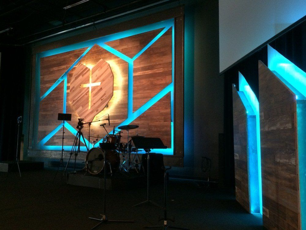 Cracked Wood Church Stage Designs Of 2015 Sound And