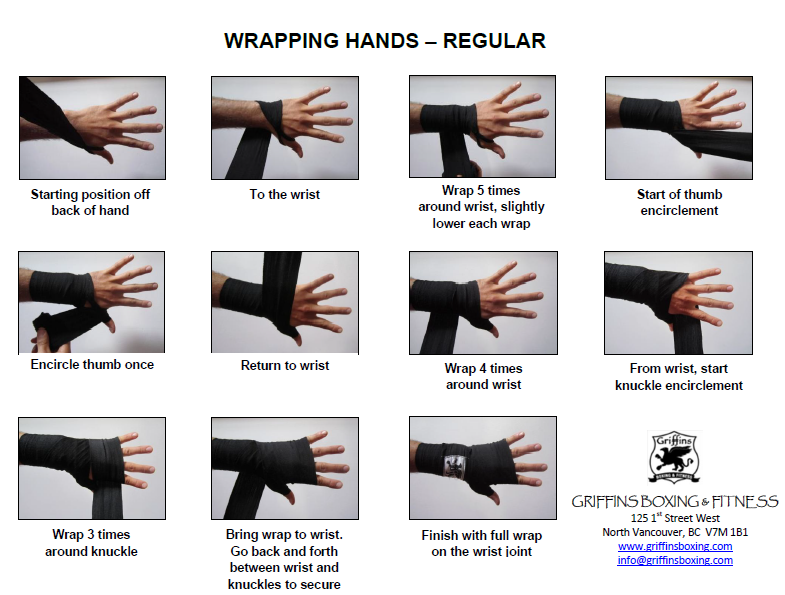 Wrapping Hands Regular Griffins Boxing And Fitness Boxing Hand Wraps Boxing Workout Wraps