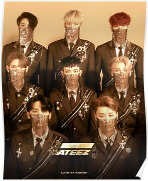 ATEEZ WONDERLAND Poster in 2020 Pop group, Kpop, Kim