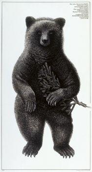 Bear poster by Erik Bruun -I just gave this to my boyfriend