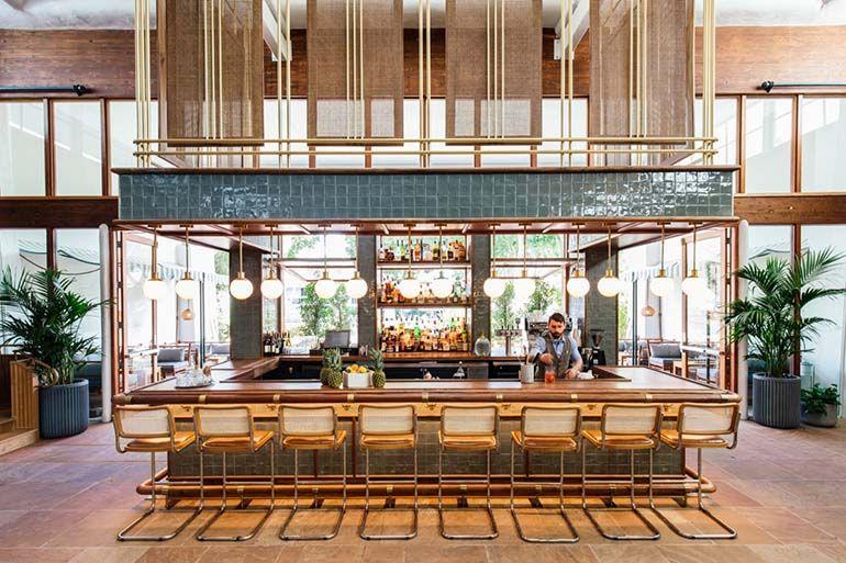 Avroko Channels The Bauhaus And Havana For The Scott A Luxury Resort In Scottsdale Bar Design Restaurant Hotel Interior Design Bar Interior Design