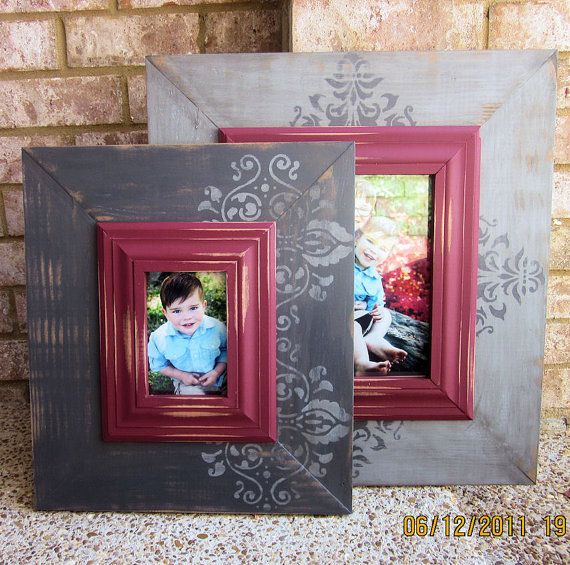 Pair of Distressed Picture Frames 4x6 and 8x10 by ShirleyFrames ...