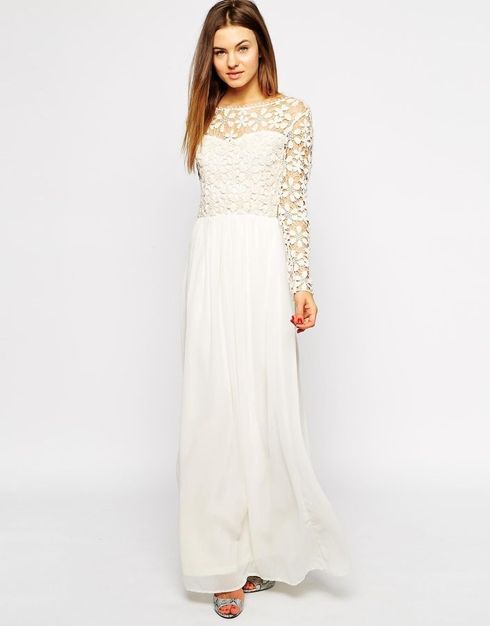Club L Crochet Maxi Dress With Long Sleeves Crochet Maxi Dress Long Sleeve White Maxi Dress Maxi Dress Collection