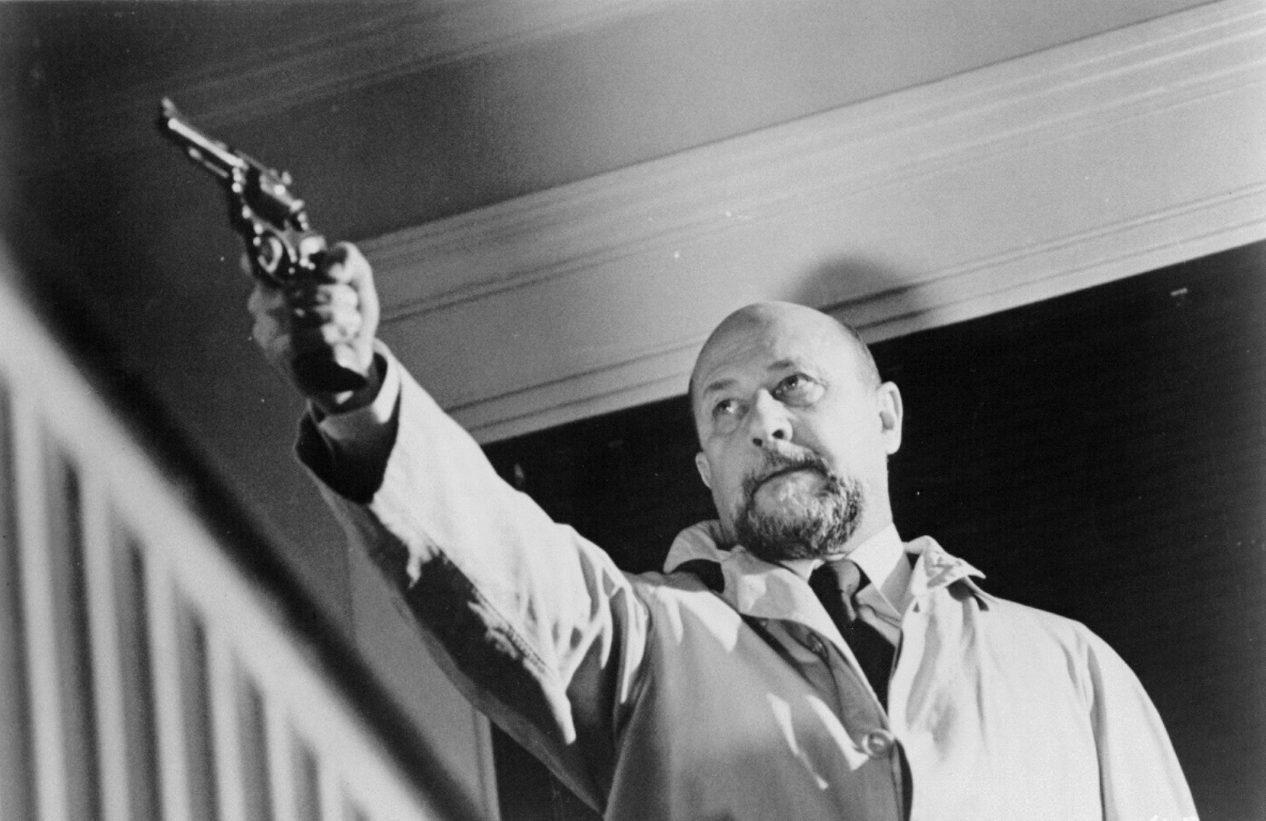 """""""Halloween"""" movie still, 1978. Donald Pleasence as Dr. Sam"""