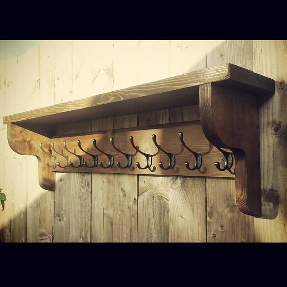 Extra Large Vintage Style Coat Hook Rack With Shelf You are viewing Magnificent Vintage Style Coat Hook Rack With Shelf