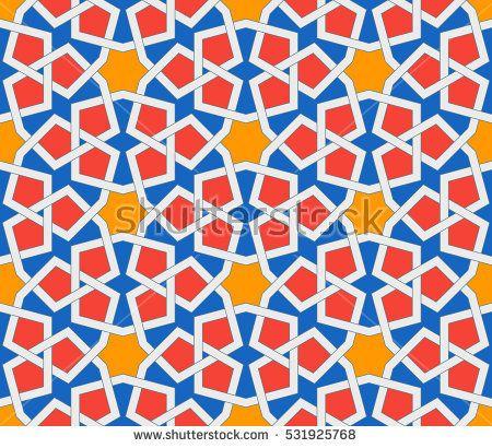 islamic geometric ornaments based on traditional arabic art oriental seamless pattern muslim mosaic colorful vector illustration