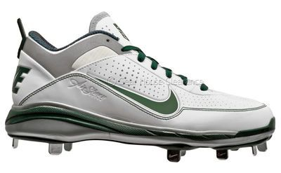 New NIKE Air Show Elite 2 Mens Baseball Cleats, White / Green / Silver Cheap