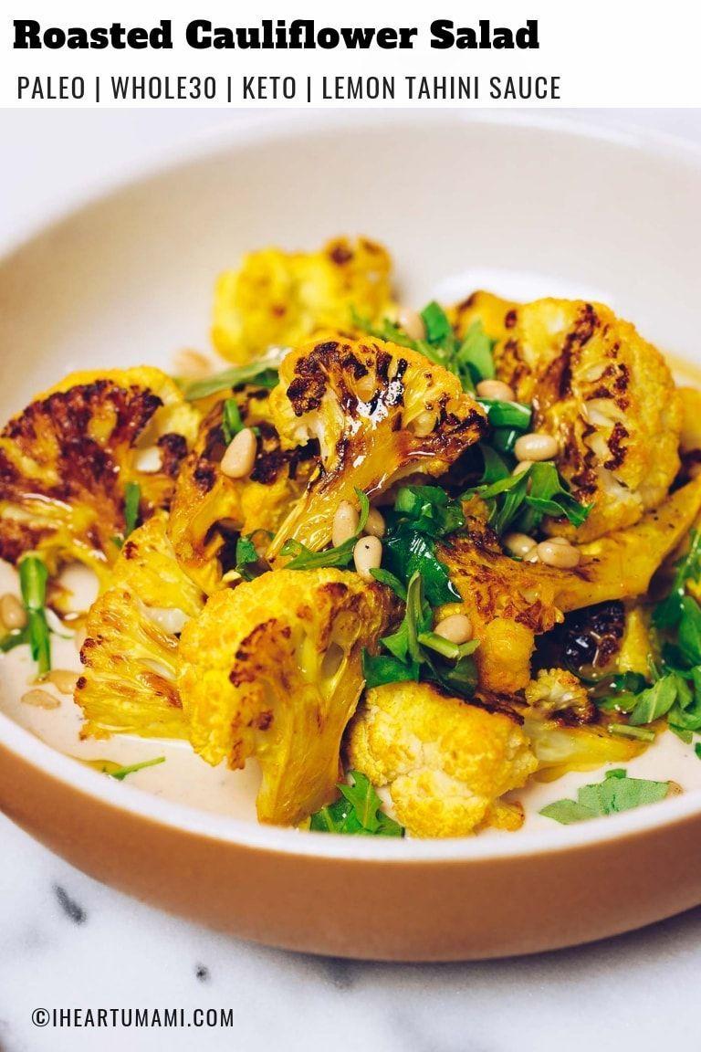 Paleo Roasted Cauliflower Recipe Whole30 Keto Vegan