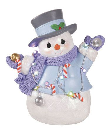 Love this Light-Up Snowman Plaque by Precious Moments on #zulily! #zulilyfinds