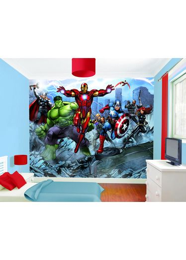 Dulux Marvel Avengers Bedroom In A Box Officially Awesome: Decoración Fotomurales Vinilos Para