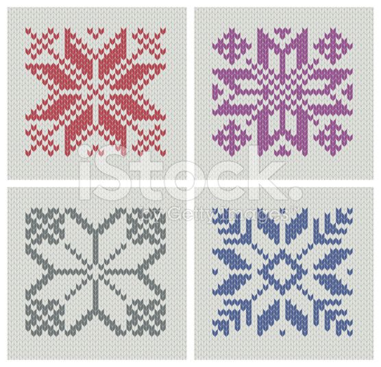 Set Of Norwegian Traditional Pole Star Knitting Designs Seamless
