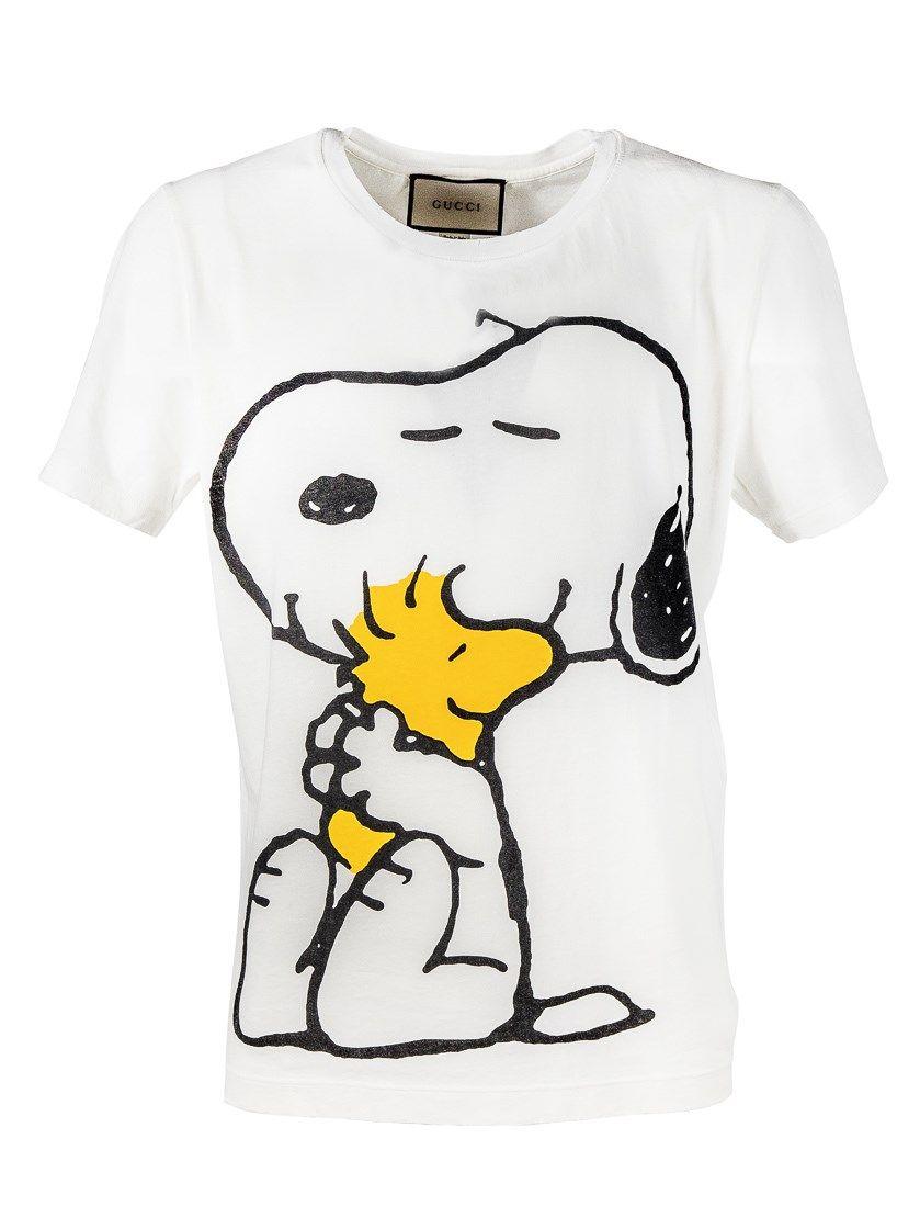 7cc7f15aa1ed GUCCI Peanuts Print T- Shirt. #gucci #cloth #t-shirt | Gucci Men ...