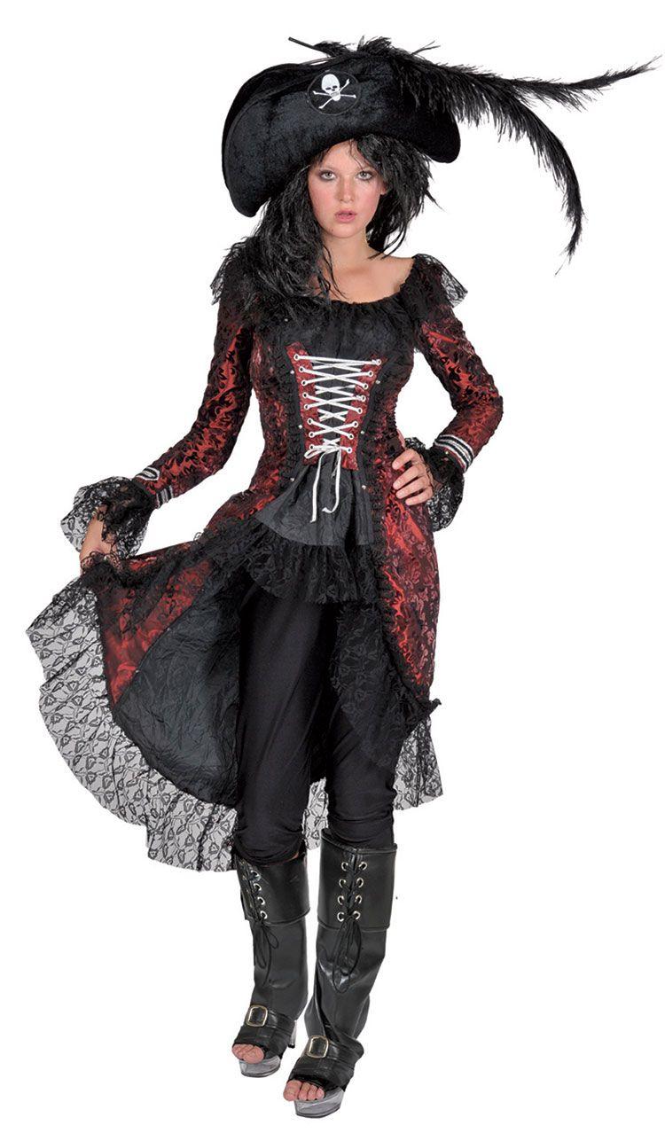 Autentiske Pirate Kostumer til kvinder Ladies Bloody Booty-9431