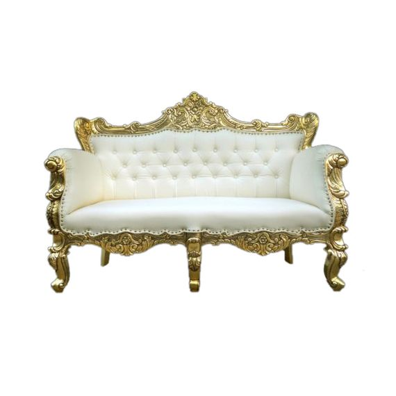 White And Gold Sofa