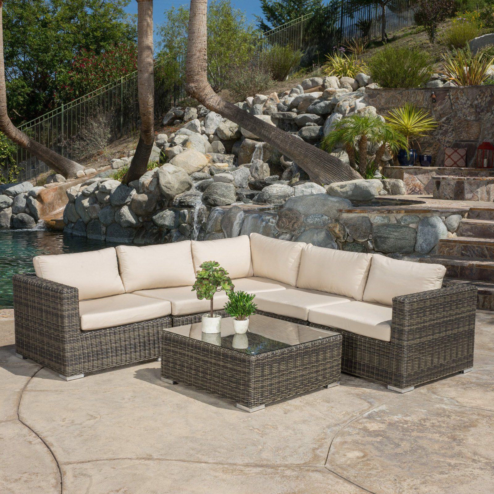 Best Selling Home Zucatan 6 Piece Conversation Set With Cushion