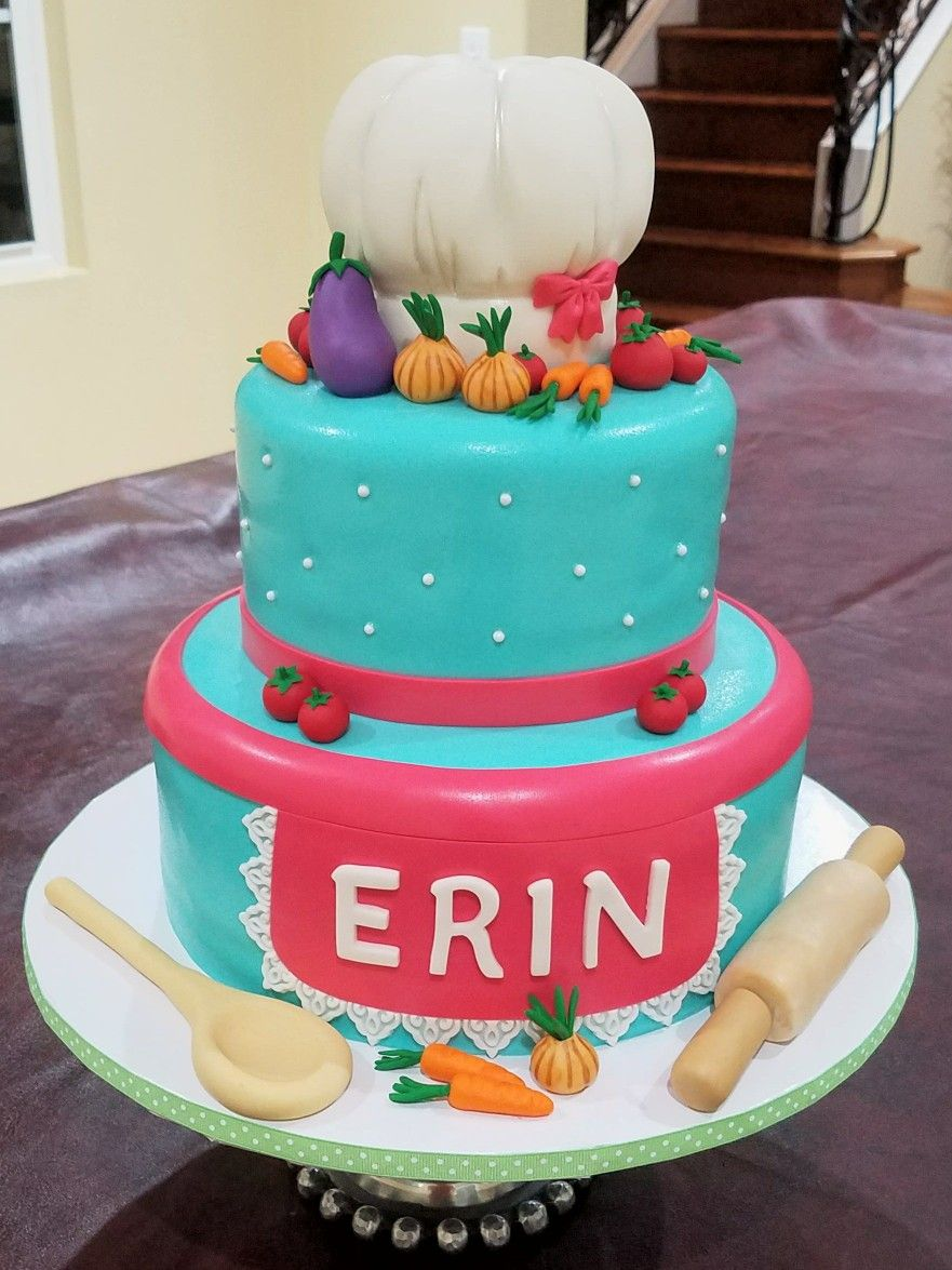 Girl Chef Birthday Cake Baking Fun Pinterest