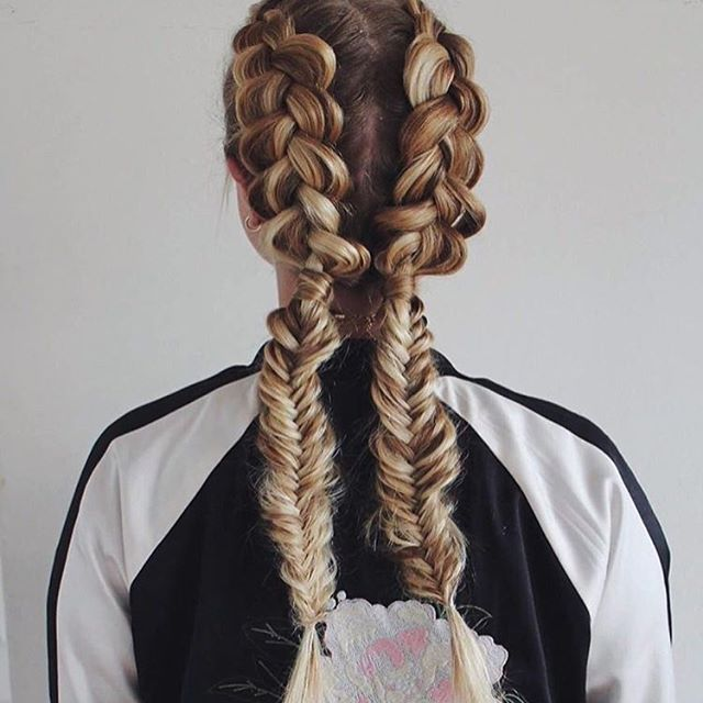 Contemporary Dutch into fishtail braids by ffashionails Trending - Model Of herringbone braid Top Design
