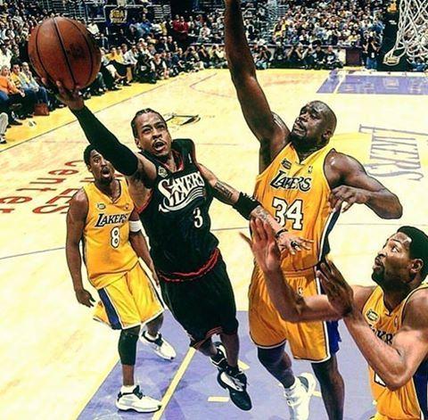 d24b1400f98 Allen Iverson vs Kobe Bryant, Shaq, Robert Horry | Allen Iverson ...