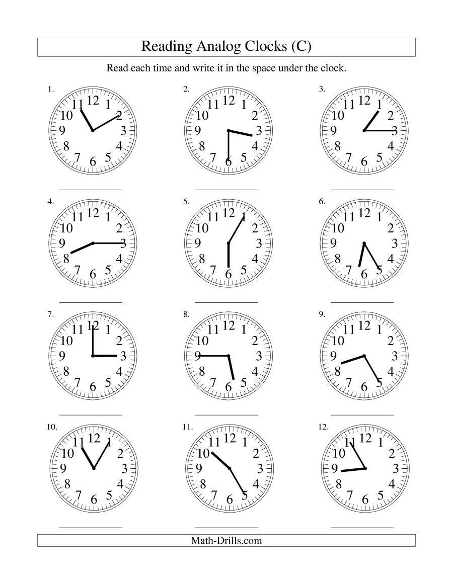 Telling Time Worksheets Time Worksheets Telling Time Worksheets Clock Worksheets
