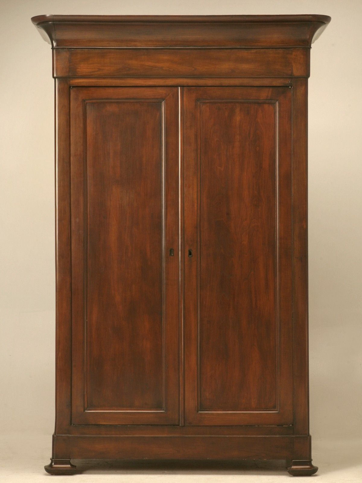 Stellar Antique French Louis Philippe Cherry Armoire W Fitted