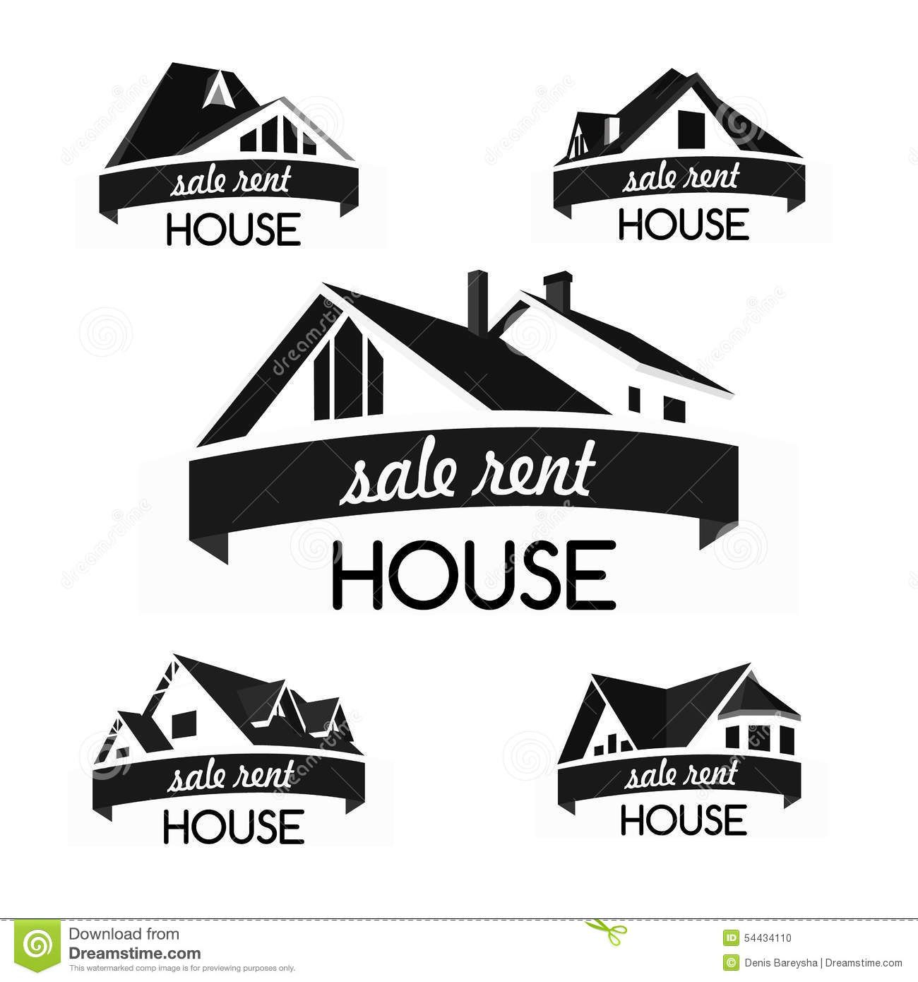 House logo template set stock vector Image of chimney