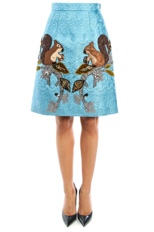 Dolce& Gabbana squirrel Brocade Applique Skirt <3.