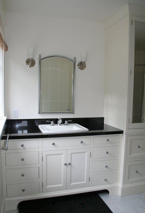 Custom Made Bathroom Vanity | Black bathroom, Small ...