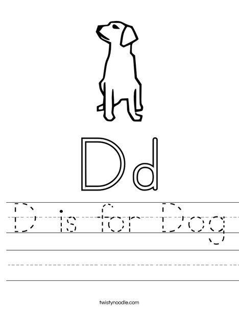 d is for dog worksheet from explorers letter worksheets d is for dog. Black Bedroom Furniture Sets. Home Design Ideas