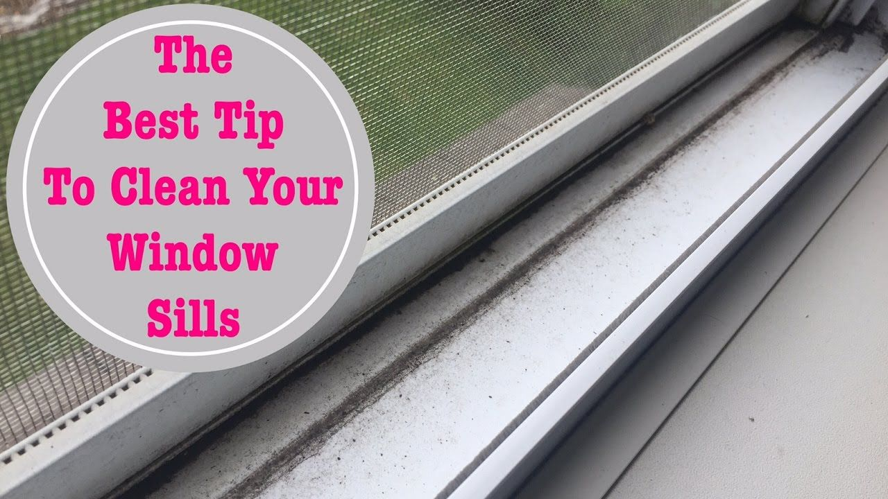 how to clean window sills with sponge