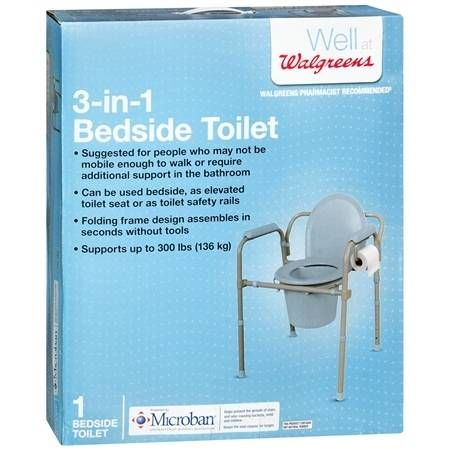 Walgreens Bedside Toilet With Microban 1 Ea Toilet