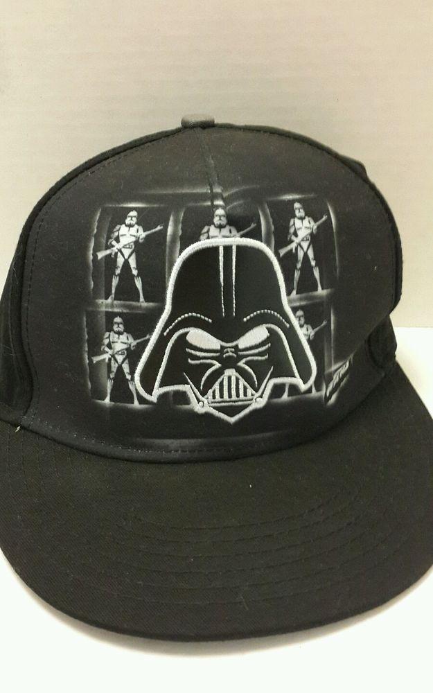 sports shoes 9558d e10dc Star Wars Darth Vader Snapback Hat Lucasfilm Ltd. Black Vader Patch NWOT
