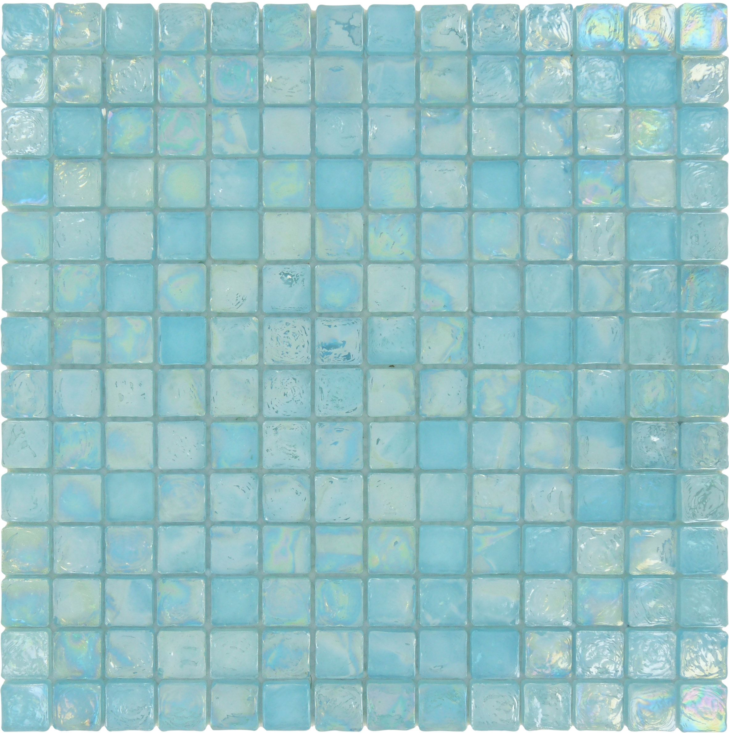 - Made From Compact Square Chips This Glossy & Iridescent Aqua Glass Tile  Backsplash Serves As A Striking Example Of Trendy Styl… Blue Mosaic Tile, Aqua  Glass Tiles
