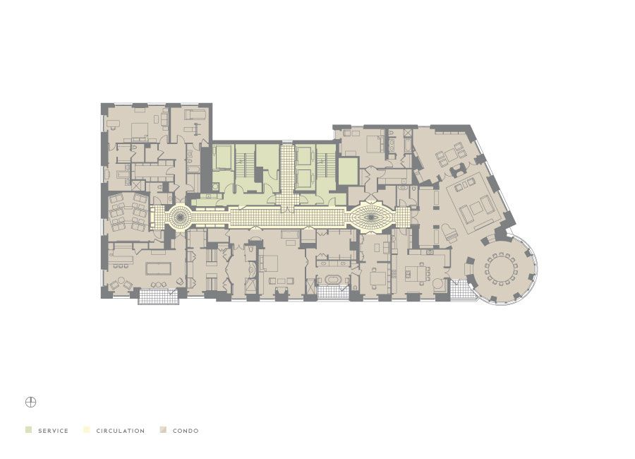 Penthouses in chicago floor plans 65 east goethe 10 east delaware park tower floor plan - Lay outs penthouse ...