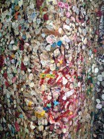 Verona- Chewing-gum wall in Juliet's Castle, gross but kinda pretty :)