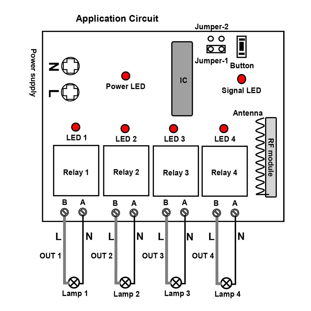 Circuit Diagram Remote Control Pinterest Channel Kit And 4 12v To 9v 2a Step Down Dc Converter Using Ic 741 2n3055
