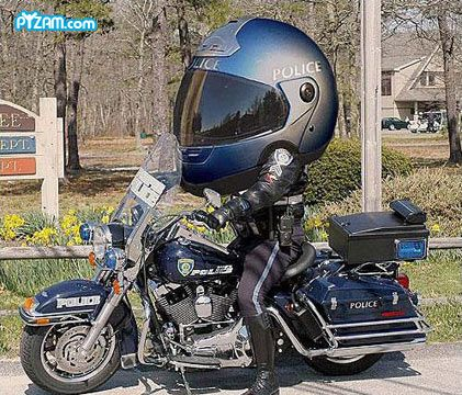 Big Head With Images Funny Motorcycle Funny Police Pictures