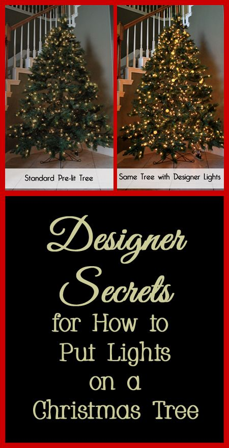 The first step to decorating a Christmas tree, whether fresh or artificial,  should be putting on the Christmas lights. Often people do not add enough  lights ... - Designer Secrets For How To Put Lights On A Christmas Tree