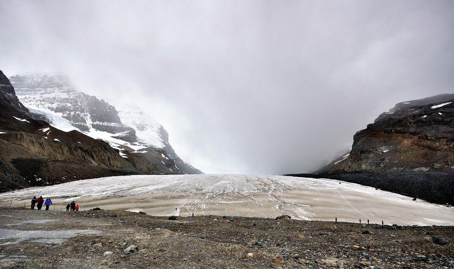 Athabasca Glacier in the Columbia Icefield Alberta Canada