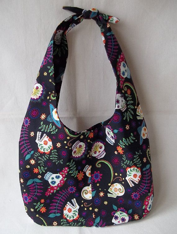 Sugar Skulls Hobo Bag Day of the Dead Hobo by KarensCrochetCottage ... e6a03071547af