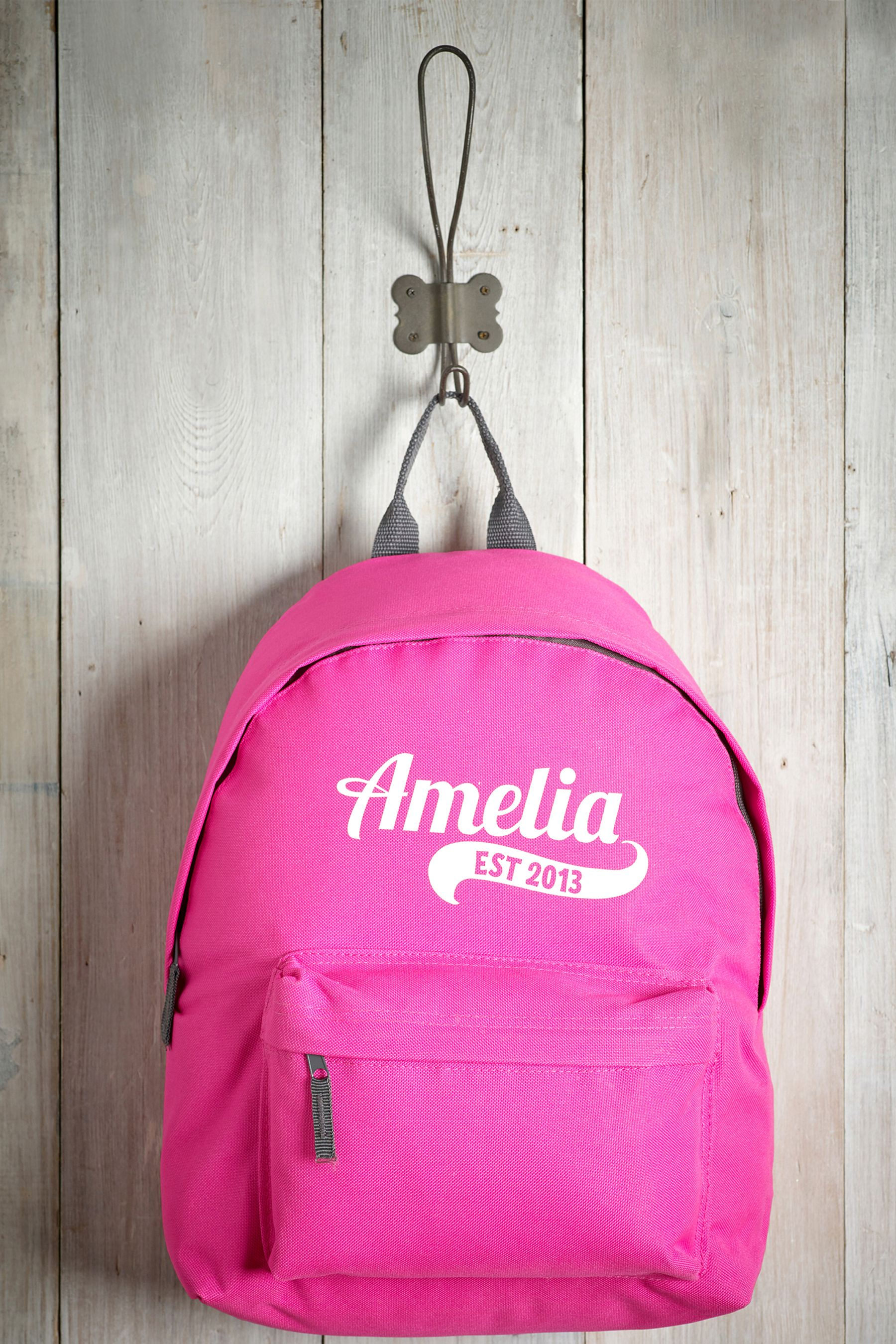 2b06c1f17f Girls Personalised Pink Backpack by Loveabode - Pink